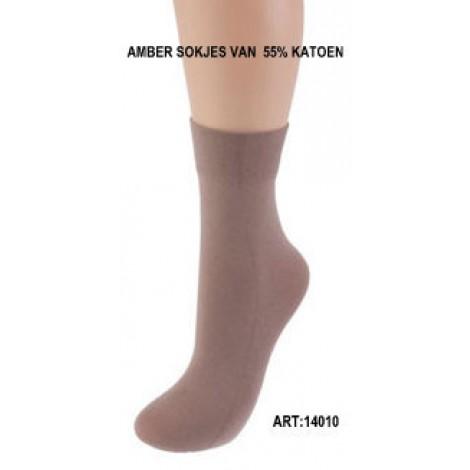 Amber sokjes van katoen
