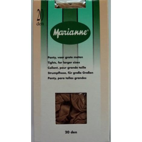 Marianne panty 20 denier voor grote maten, met tussenstuk