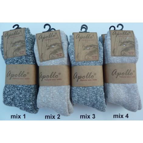 Apollo nature cosy socks, heerlijke zachte en warme sokken
