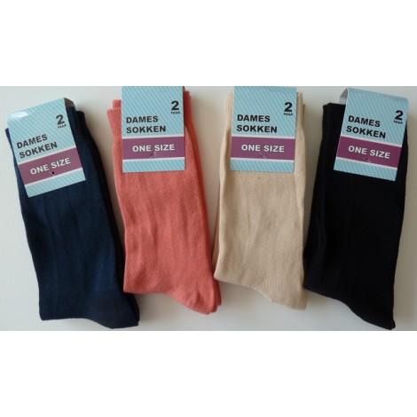 Goedkope dames sokken van 78% katoen per twee paar, de derde bundel is gratis !!