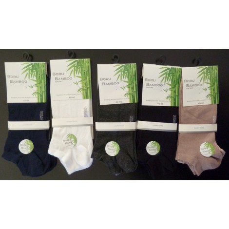 Boru bamboo dunne korte sokjes per twee paar