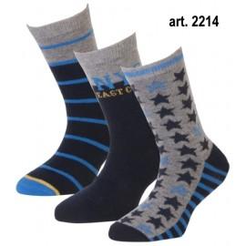 Jongens sokken met strepen, sterren en NYC print