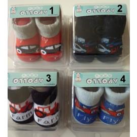 Baby sokje voor jongens in kado verpakking