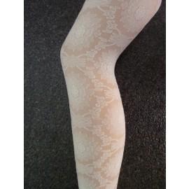 """Marianne fantasie panty met kant patroon (zie """"Meer afbeeldingen"""")"""