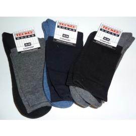 Teckel sokken van katoen met dunne schacht en badstof zool, zonder naad op de tenen