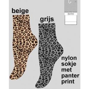 Fashion nylon sokjes van Sarlini met panterprint
