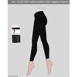 Sarlini dames luipaard legging in leather look