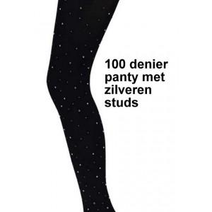 Sarlini 100 denier dikke panty met zilveren studs