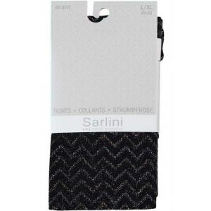 Sarlini 80 denier lurex panty met zigzag patroon
