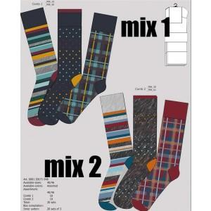 Grappige moderne heren sokken in vrolijke kleuren met strepen ruiten en stipjes