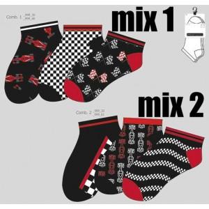 Formule 1 heren enkelsokken, grappige sneakersokken per drie paar in een bundel