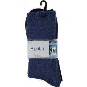 Warme sokken van katoen per 2 paar in grote maten !