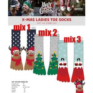 Superleuke Kerstsokken voor dames met tenen en antislip