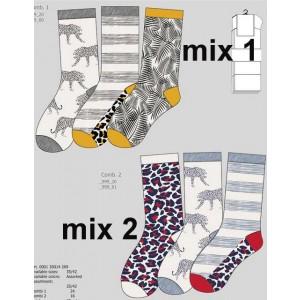 Apollo dames sokken met drie verschillende dierenhuid printen