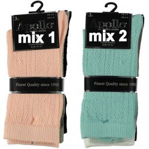 Ajour (gaatjes) sokken voor dames van katoen.