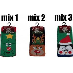 Grappige kerstsokken voor kinderen per twee paar in een pakje