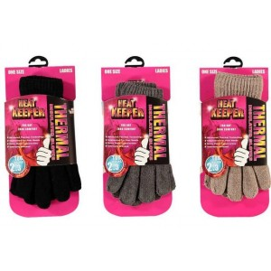 "Dames Thermo ""HEAT KEEPER"" chenille handschoenen"