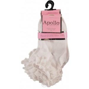 Apollo baby sokjes met kantje aan de boord per paar