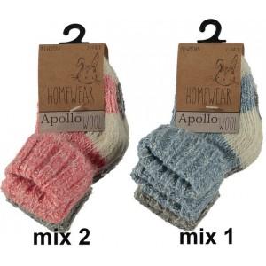 Warme wollen noorse sokken per twee paar voor baby's en kinderen