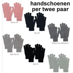 Dunne warme dames handschoenen van Sarlini per twee paar