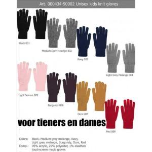 Sarlini dunne vinger handschoen voor tieners en dames met touchscreen vinger