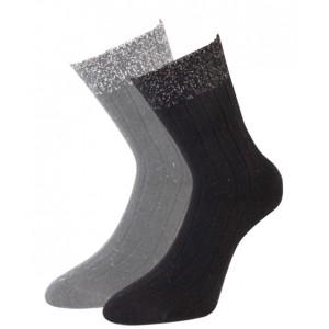 Angora dunne wollen dames sokken per 2 paar