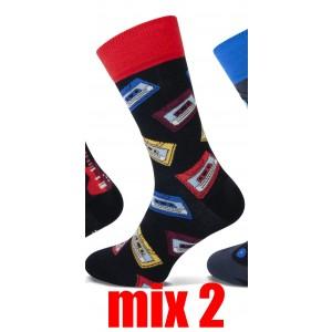 Happy Teckel socks met diverse printen voor heren per paar