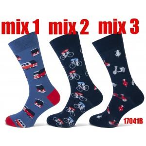 Happy Teckel socks per paar met diverse printen voor heren
