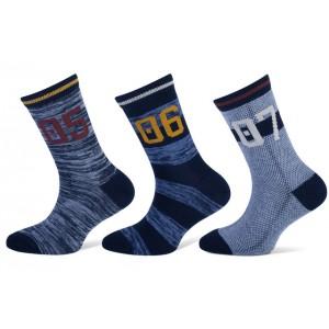 Teckel sokken met drie verschillende printen per bundel van drie paar