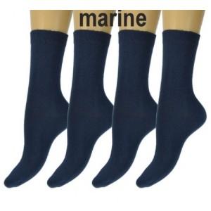 Normale sokken van katoen zonder naad aan de tenen