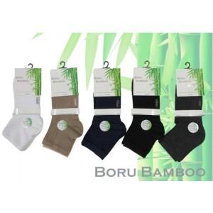 Boru Bamboo Biker sokjes met badstof (terry) zool net boven de enkel per twee paar