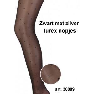 Marianne panty met lurex nopjes in zilver of goud