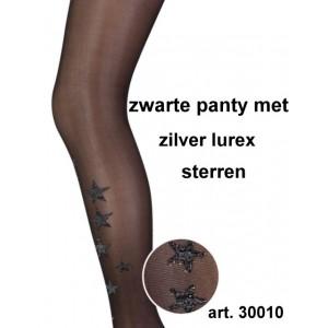 Marianne panty met lurex zilveren sterren
