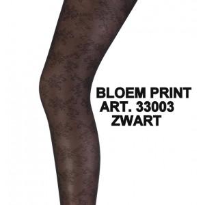 Marianne panty met bloem patroon
