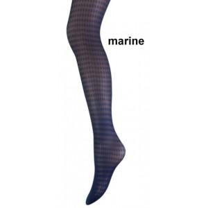 Marianne panty met een pied de poule motief