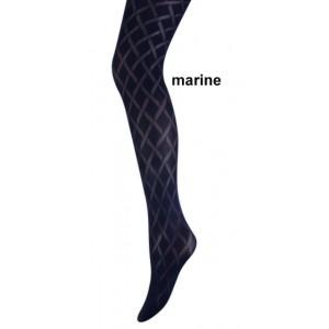 Marianne panty met een diamond (ruit) motief