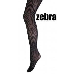 Marianne panty met een zebra motief