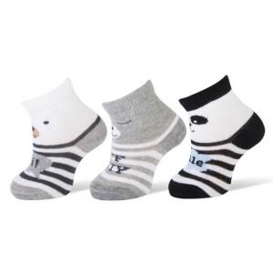 Hi, smile, off duty baby sokjes per drie paar