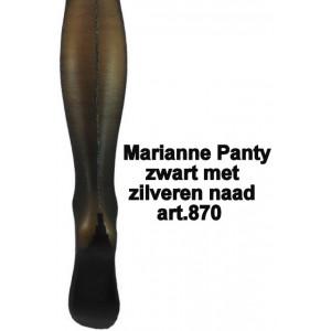 Damespanty 20 denier van Marianne met zilveren naad