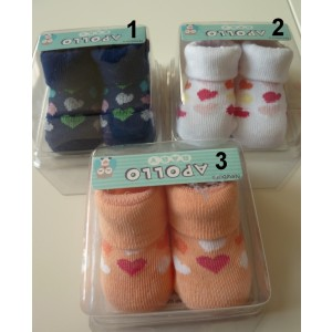 Baby sokje voor meisjes in kado verpakking