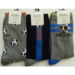 Jongens sokken met verschillende voetbal printen