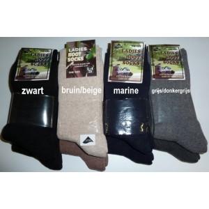 Warme sokken van katoen per 2 paar.