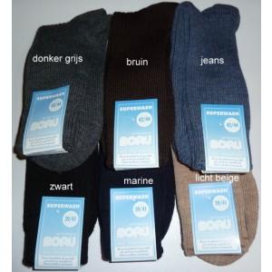 Boru sokken met badstofzool van wol
