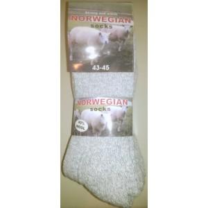 Noorse sokken per 3 paar met badstofzool