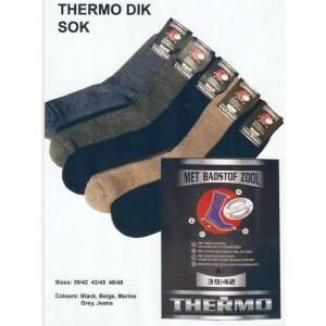 Thermo sokken met een badstofzool van wol!