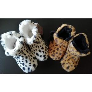 Warme dames pantoffel met tijgerprint en antislip
