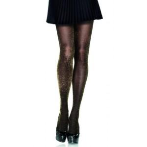 Marianne panty met lurex goud glans