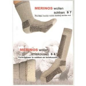 Merino wollen wandel-,ski- en werkkniekousen.(dit is de dunnere uitvoering!)