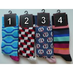 Grappige moderne heren sokken in vrolijke kleuren