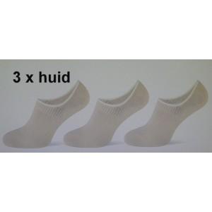 Teckel naadloos kousenvoetje invisible per drie paar in een pakje met perfecte pasvorm !